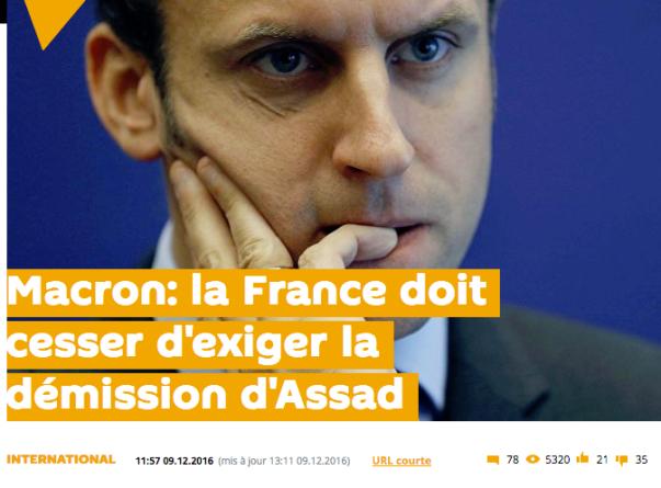 Macron Syrie