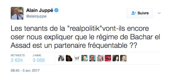 Syrie Tweet Alain Juppé