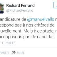 La réponse définitive d'#EnMarche à la candidature de Manuel #Valls. Terrible ...