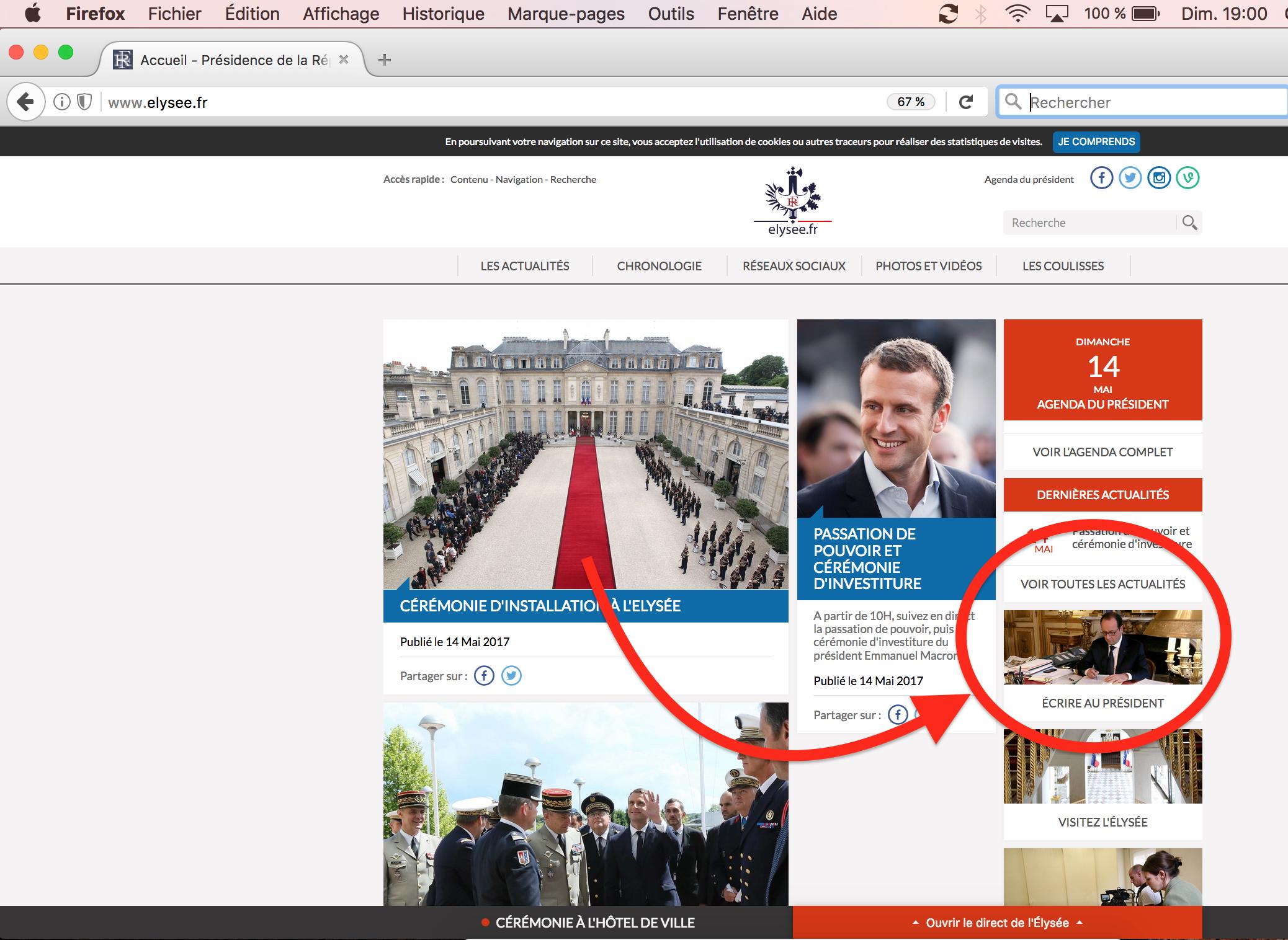 Elysée.fr Hollande MAcron investiture