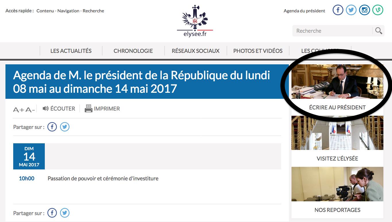 Hollande MAcron Elysée 14 Mai 2017