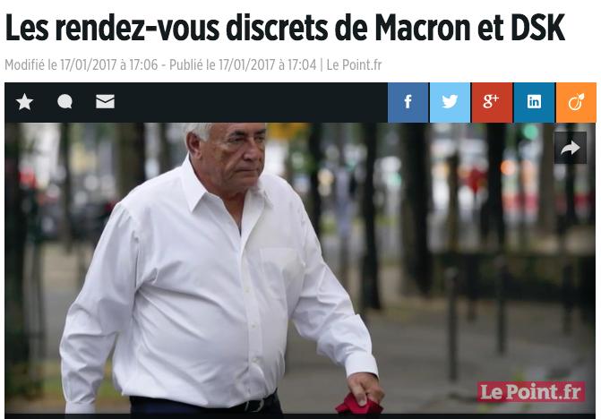 Les rendez-vous discrets de Macron et DSK