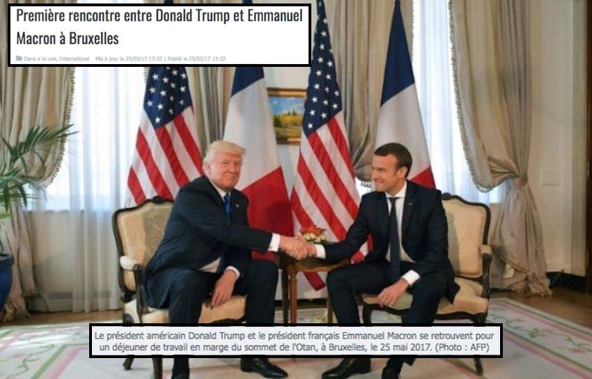 Première rencontre entre Donald Trump et Emmanuel Macron à Bruxelles