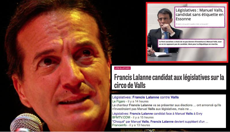 Valls face à Françis Lalanne Essonne Législatives