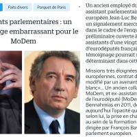 """#EnMarche les affaires : Chez François #Bayrou aussi! Bref, le #Modem a fait """"bip bip!"""" ..."""