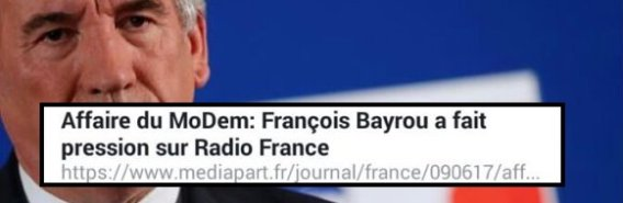 Bayrou secret des sources menances journaliste Radio France