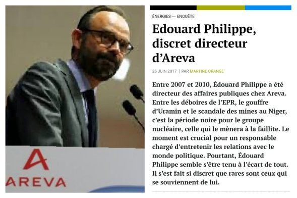 Edouard philippe Areva Cour des comptes
