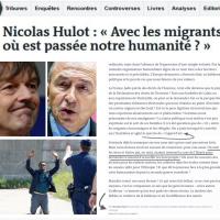 #Migrants: Réponse «avancée» de Nicolas Hulot à #Collomb: #MakeNotreHumanitéGreatAgain! ..
