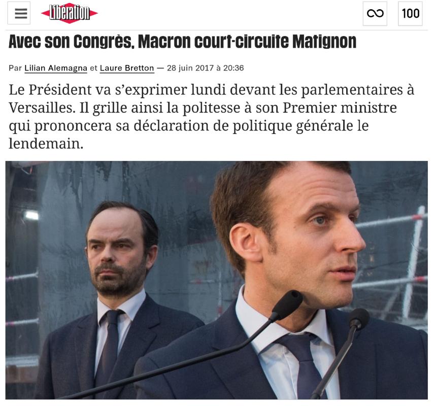 Congrès Versailles Macron Edouard Philippe Discours politique générale