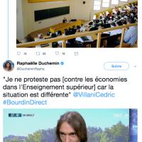 """Zut! @CedricVillani le matheux-député a """"avalé son araignée"""", chapeau! #BudgetRecherche..."""
