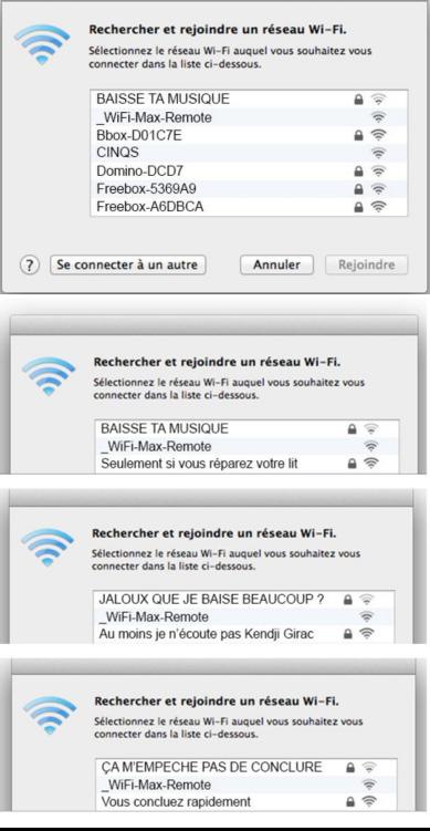Dispute entre voisins via nom réseau wifi
