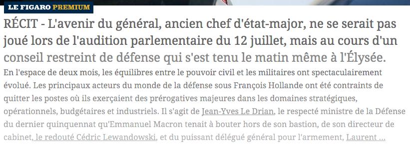 Macron Armée Viré les pro Hollande