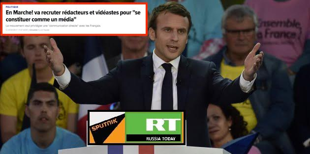 Macron Le média EnMarche, RussiaToday Sputnik