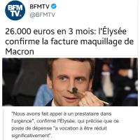 """Maquillage (politique) à l'Élysée: """"Aux âmes bien nées, les rides sans les années...""""..."""