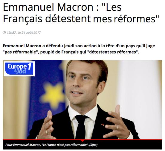 La France pays reformable ou pas