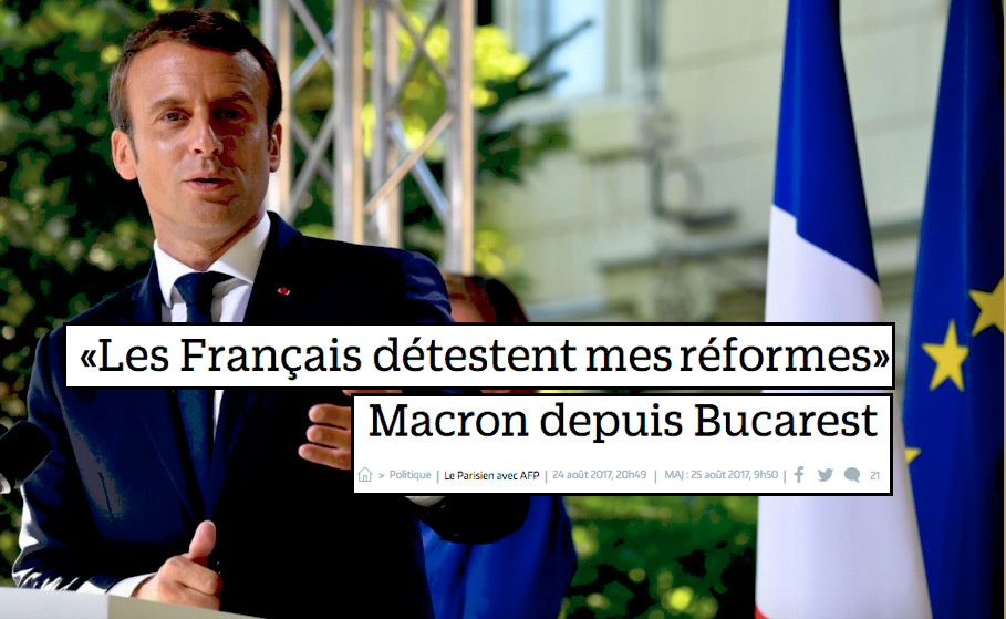 Les français détestent mes reformes