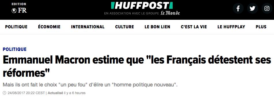 Macron reformes