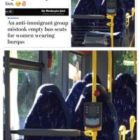 Ivres, ils confondent sièges de bus et femmes voilées (burqa). Oui, l'#islamophobie rend con ...
