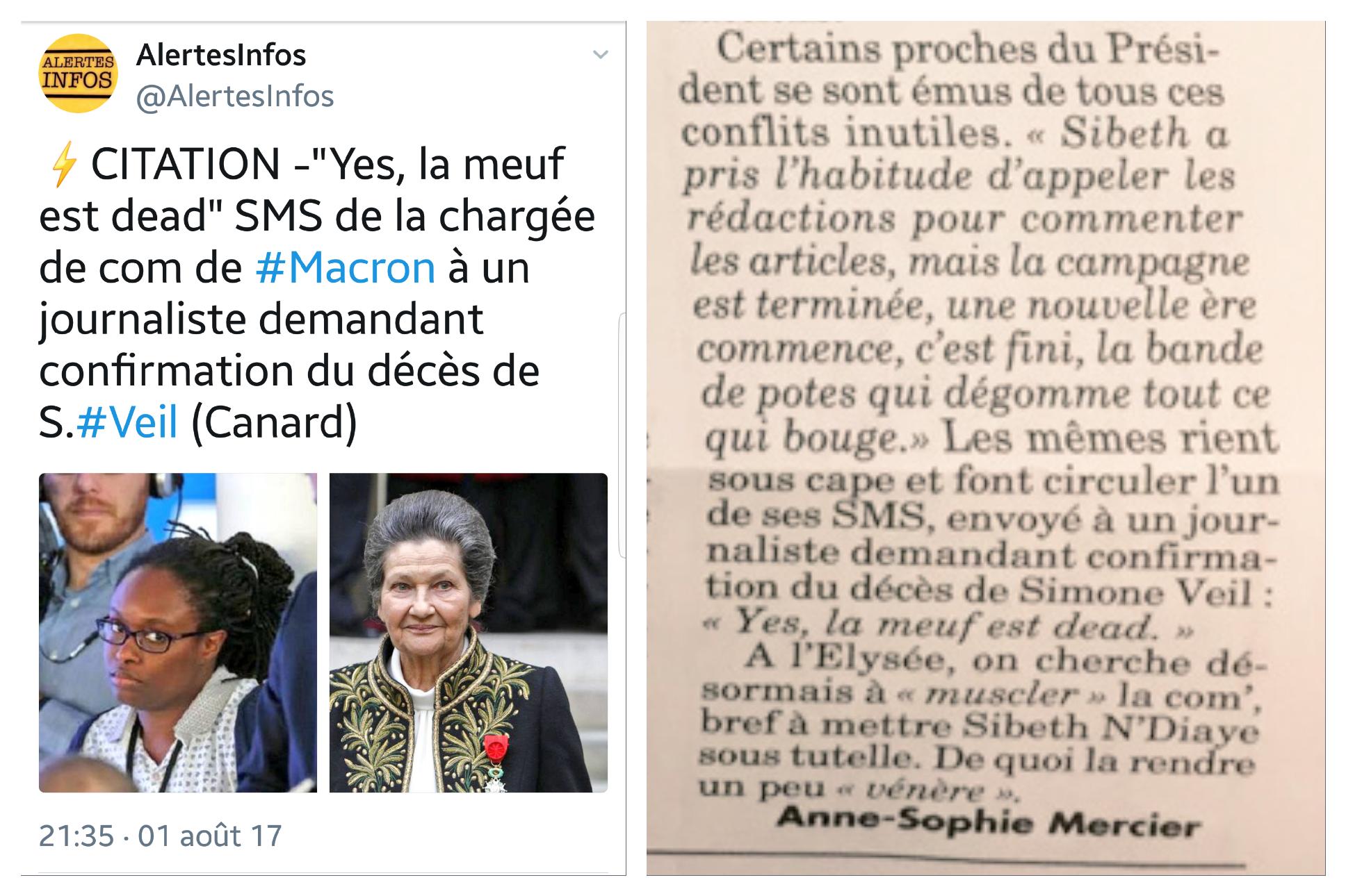 Sibeth Com' Elysée Simone Veil