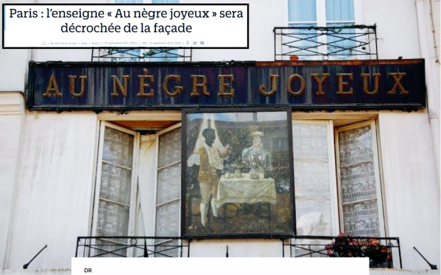 Au Nègre Joyeux Paris C'est fini