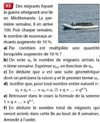 Edition Nathan calcul des migrants exe maths