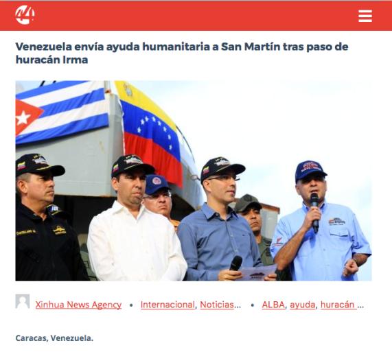 Macron Saint-Martin Aide humanitaire du Vénezuela