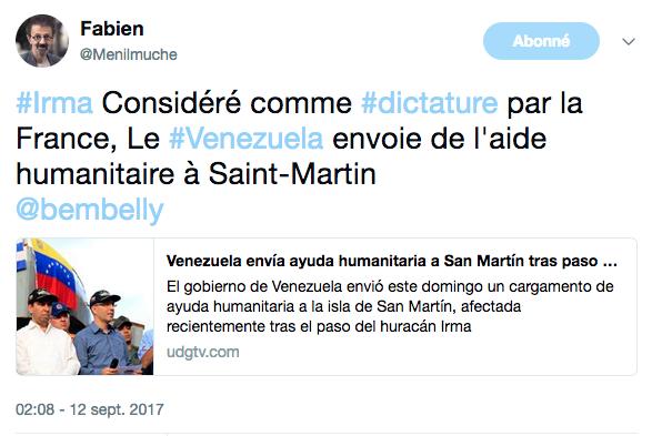 Macron Saint Martin Humiliation Aide aux victimes