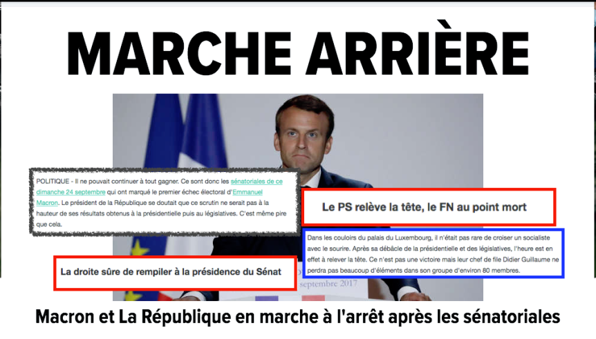 Macron Sénatoriales résultats