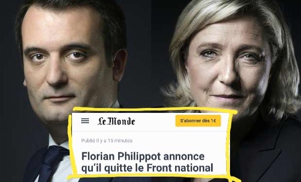 Philippot FN Marine Le Pen Divorce