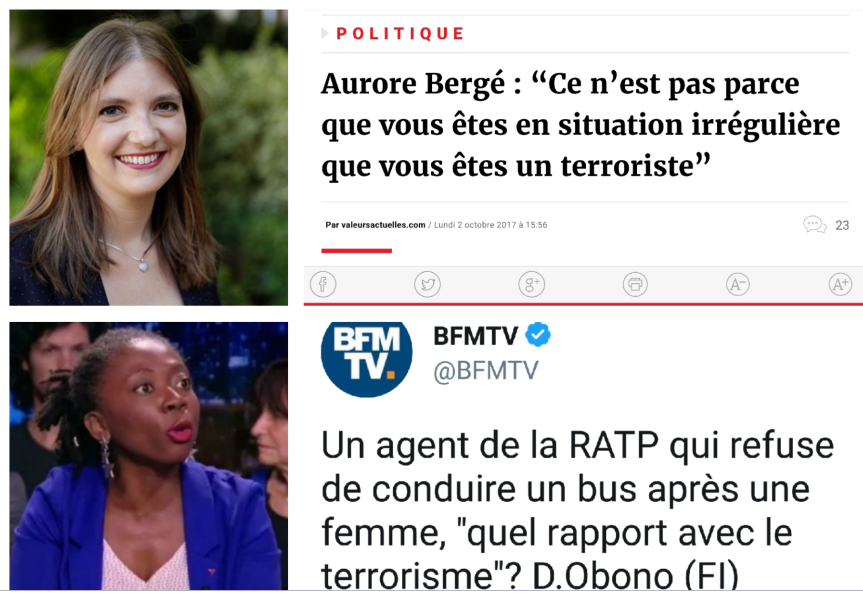 Aurore Bergé Obono Terrorisme radicalisation