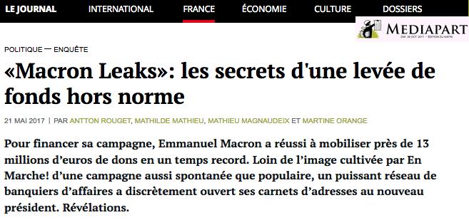 MacronLeaks Donateurs de Macron conviés à l'Elysée