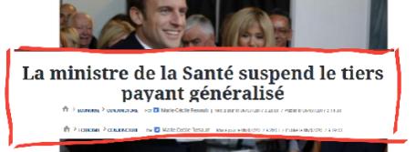 Tiers payant généralisé Hausse taxe Macron