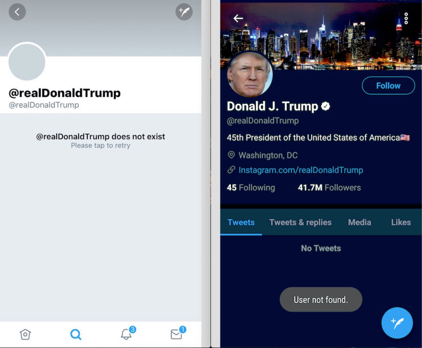 DoladTrump désactivé sur Twitter
