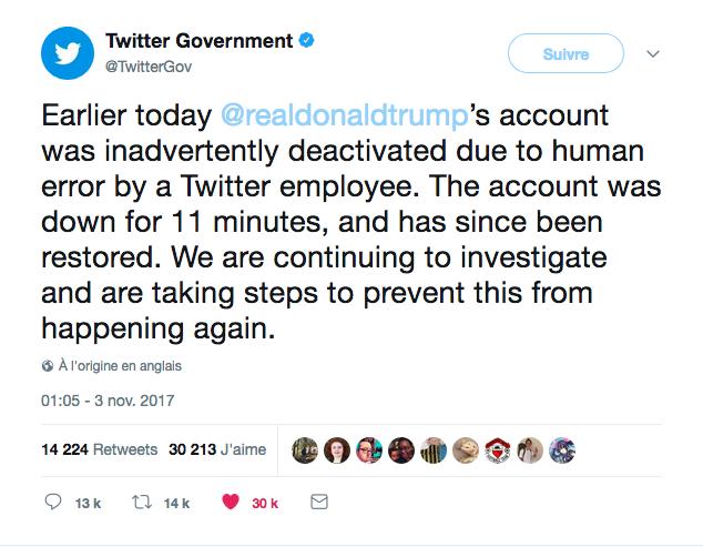 Donal Trump désactivé par Twitter