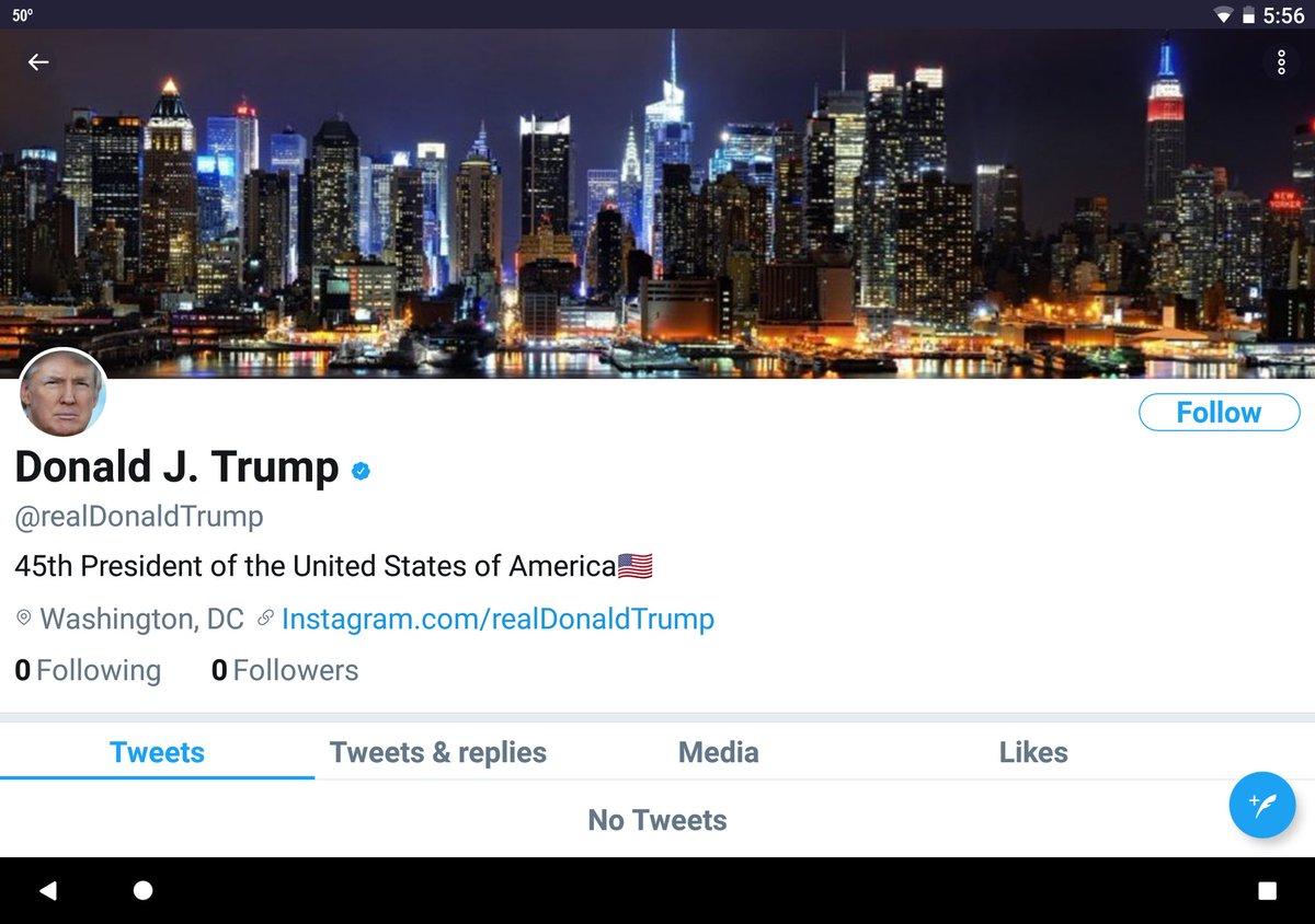 Trump désactivé sur Twitter