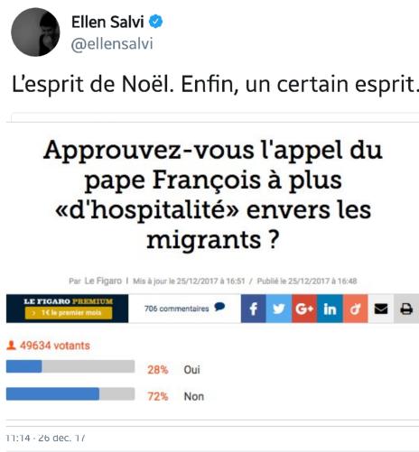 Figaro Sondage Tweet de Ellen Salvi