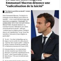 """Bref, E. #Macron se démarque de Manuel #Valls et dénonce une """"radicalisation de la laïcité""""..."""