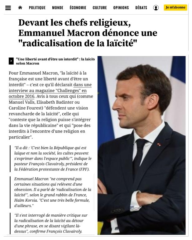 Macron Valls radicalisation laïcité