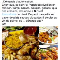 Demande d'autorisation pour « repas de réveillon en non-mixité » …