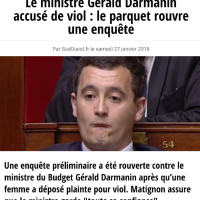 """Le destin """"Cahuzac"""" de Gérald #Darmanin Ministre du Gvt dans la panade (accusé de #viol)"""