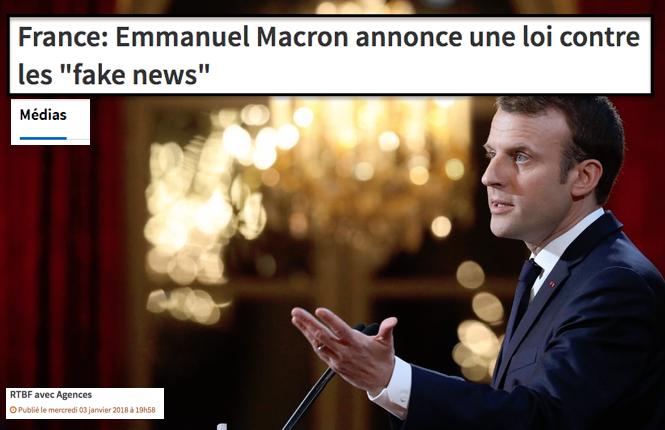Macron Loi FakeNews Ministère de la Vérité ...