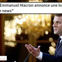 """Macron & les #FakeNews: le """"Ministère de la #Vérité"""" est #EnMarche, presque ..."""