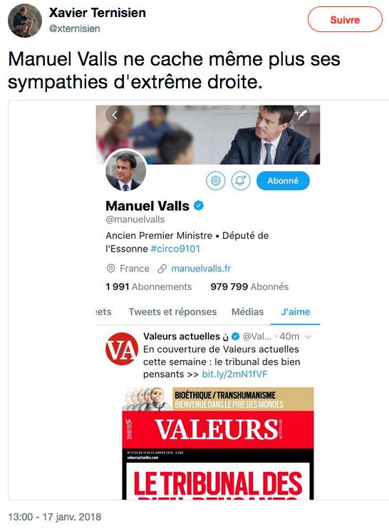 Manuel Valls UNE Valeurs actuelles