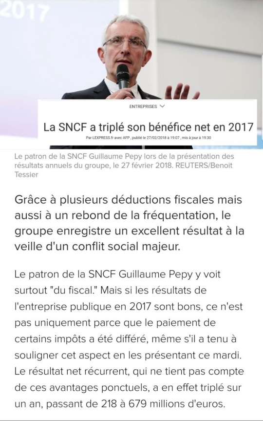 Réforme SNCH Bénefice 2017