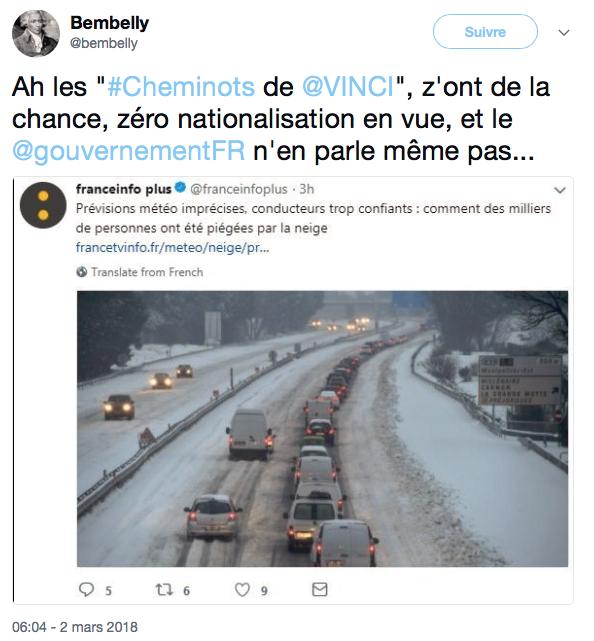 Reforme SNCF Autoroute neige pagaille VINCI