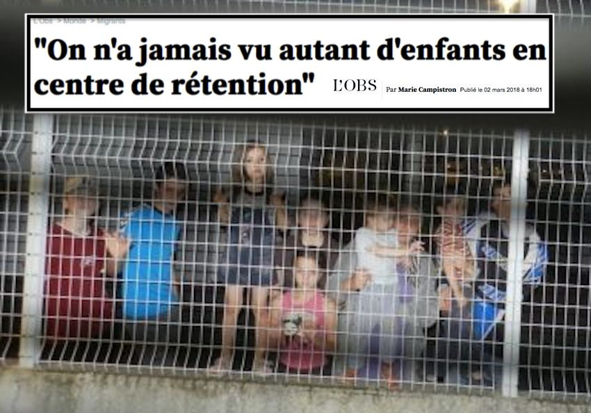 Migrants enfants centre de retention