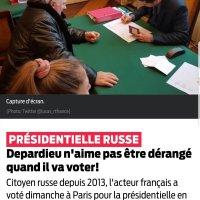 Gérard #Depardieu ou l'insulte faite à la #France et à Emmanuel Macron. A voté Poutine, à Paris.