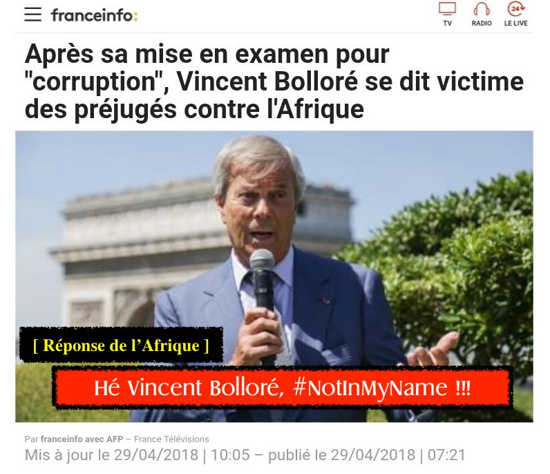 Bolloré Afrique défence mis en examen corruption