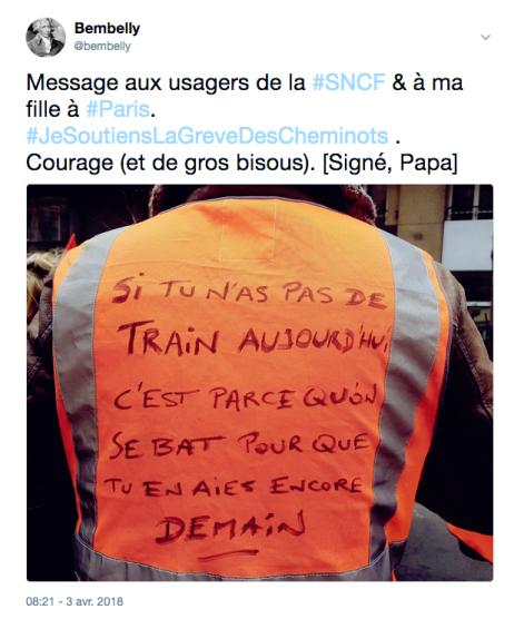 #JeSoutiensLaGreveDesCheminots