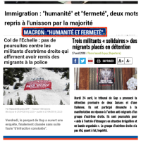 "#Collomb: ""1. #Humanité & 2. #fermeté"" illustration par l'exemple. [No comment]."